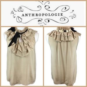 Anthropologie Floreat 100% Silk Sleeveless Top 6